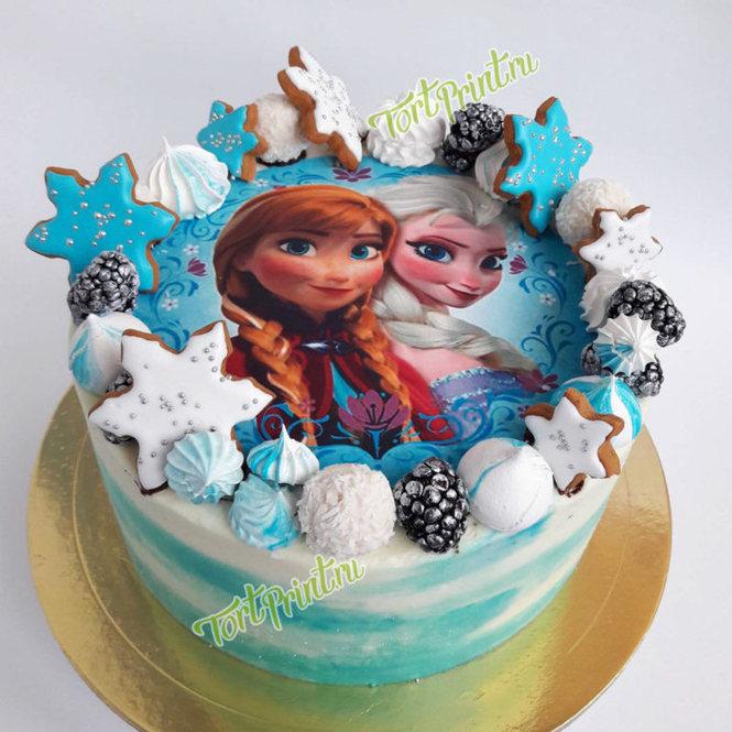 торт в стиле холодное сердце фото даже это